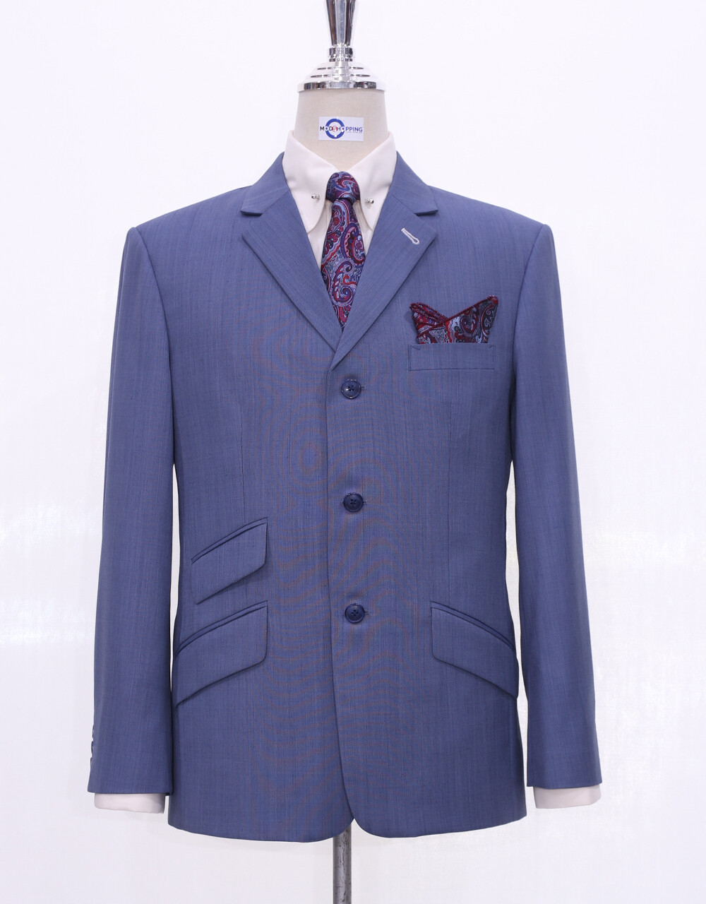 Summer Jacket 60s Style Steel Blue Summer Blazer Jacket