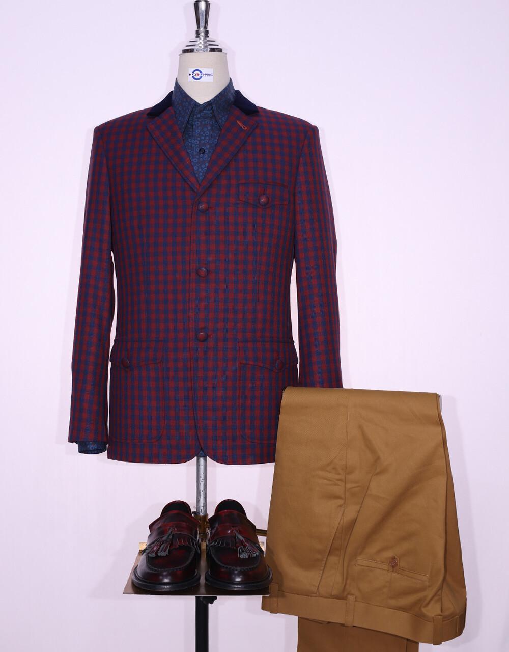Buffalo Multi Color Check Jacket   60s Style Jacket