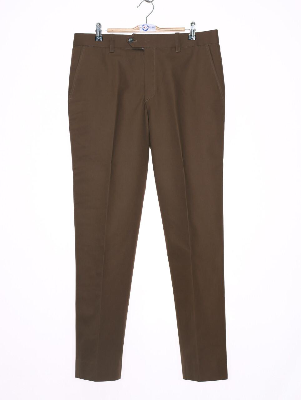 Sta Press Trousers  60s Mod Classic Brown  Mens Trouser