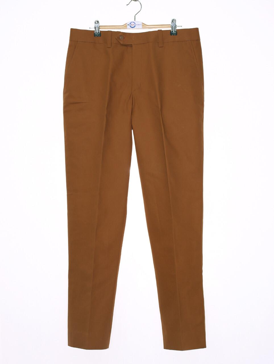 Sta Press Trousers  60s Mod Classic Burnt Orange Men's Trouser