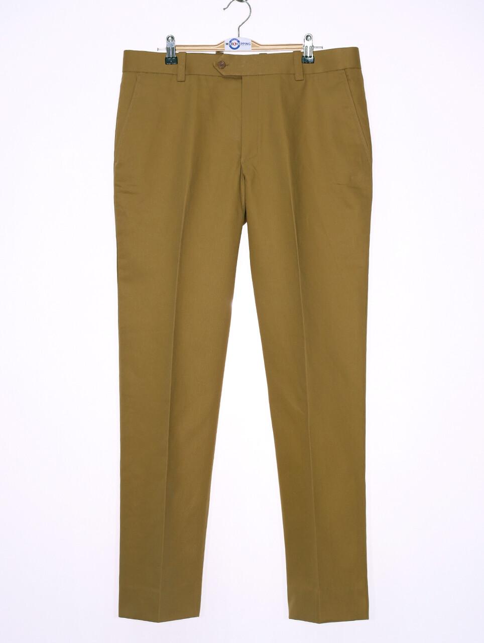 Sta Press Trousers   60s Mod Classic Khaki Men's Trouser