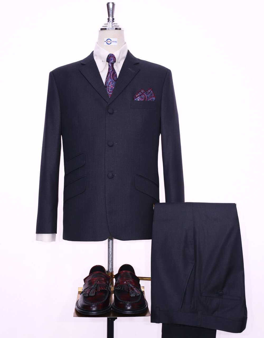 Charcoal Grey Tailored Mod Suit 60s Mod Clothing