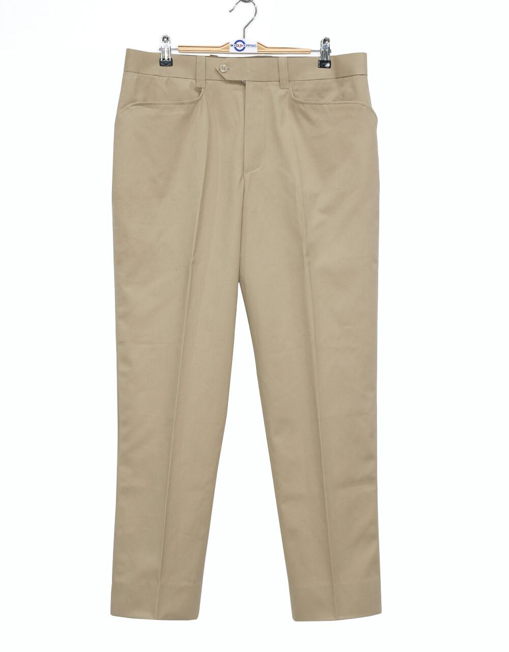 Chino Trouser   60s Vintage Style Khaki Trouser