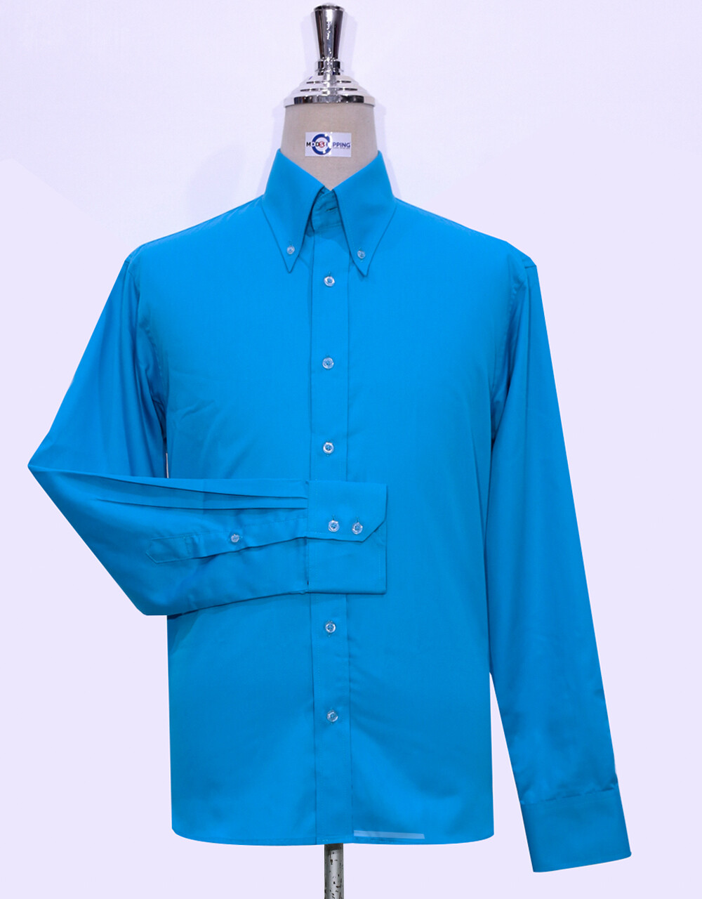 Button-Down Collar Shirt | Deep Sky Blue Color Shirt
