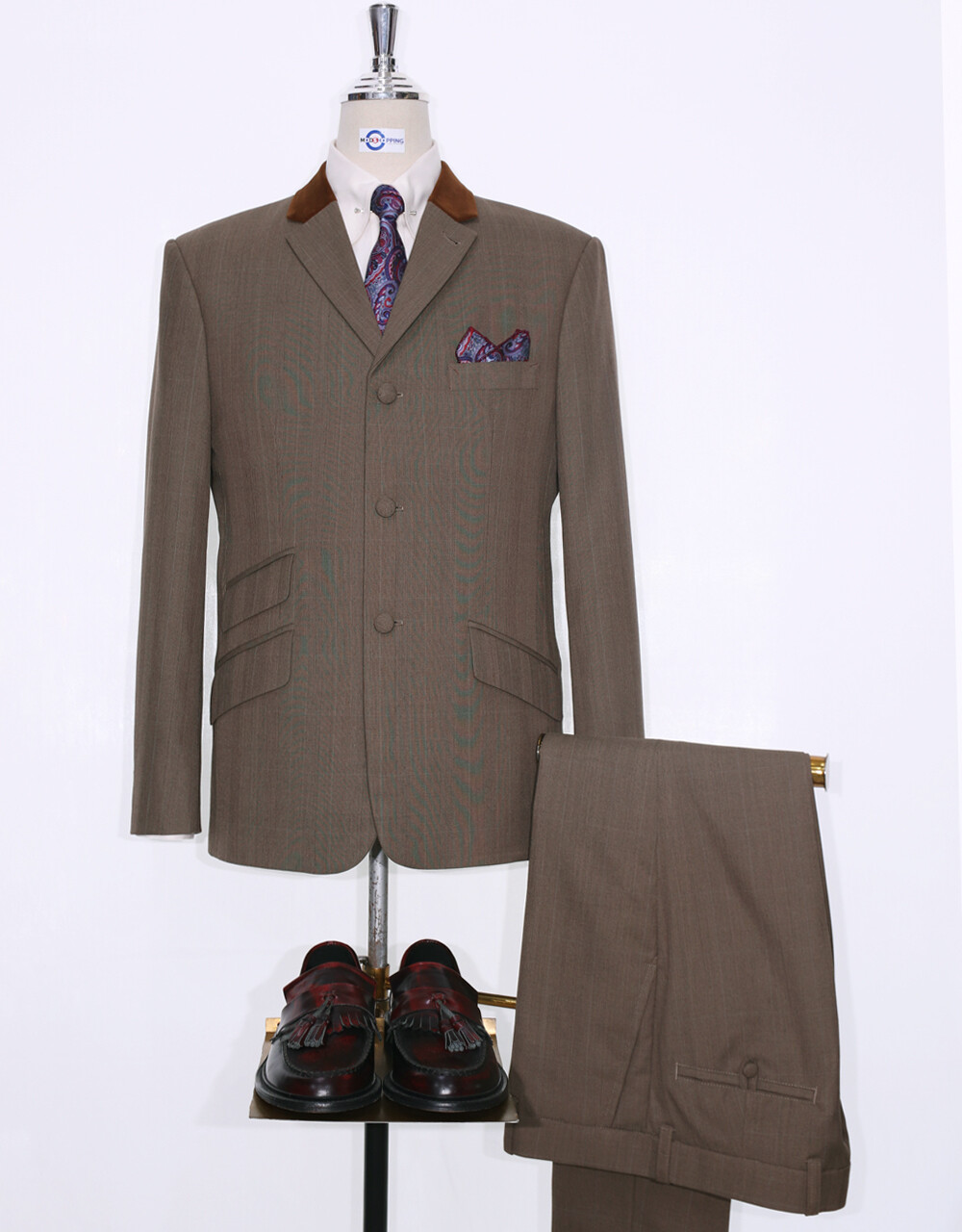 This Suit Only Brown Glen Plaid Check Suit Jacket 40R  Trouser 34/32