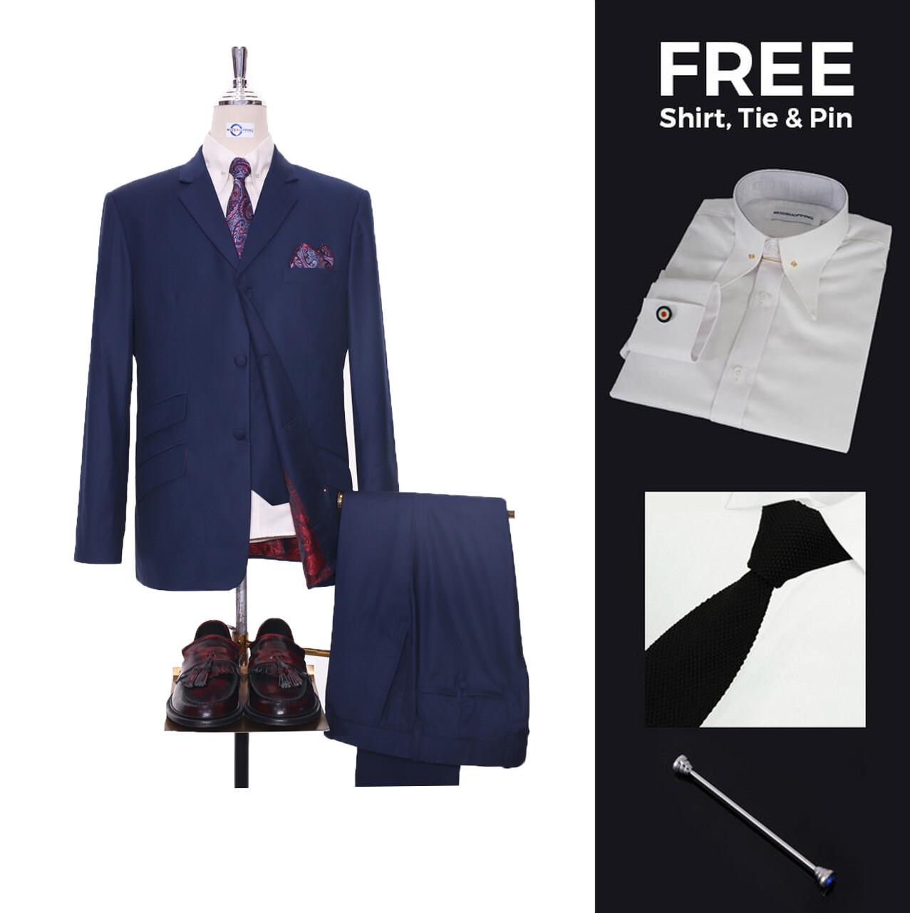 Suit Deals   Buy 1 (60s Mod Suit 3 Button Tailored Suit) & Get Free 3 Products