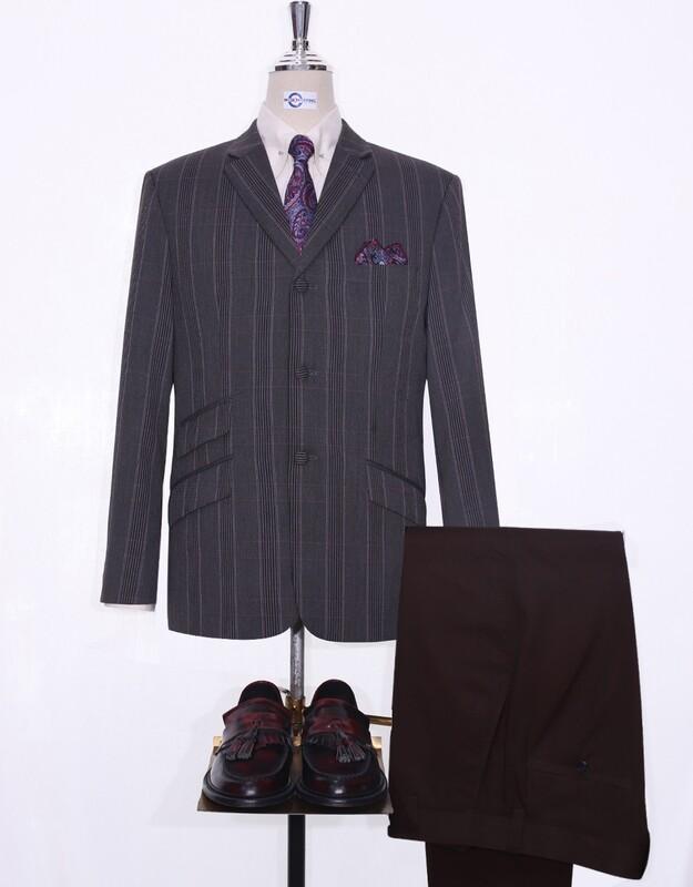 Charcoal Grey Prince Of Wales Check Blazer Jacket
