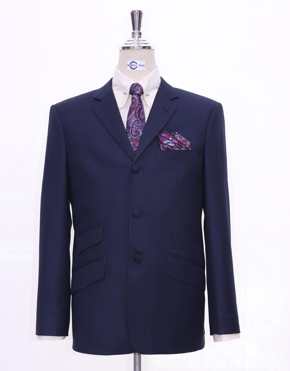Navy Blue Blazer |  60s Style Navy Blue Blazer Jacket