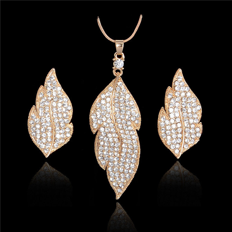 Austrian Crystal Leaf Set