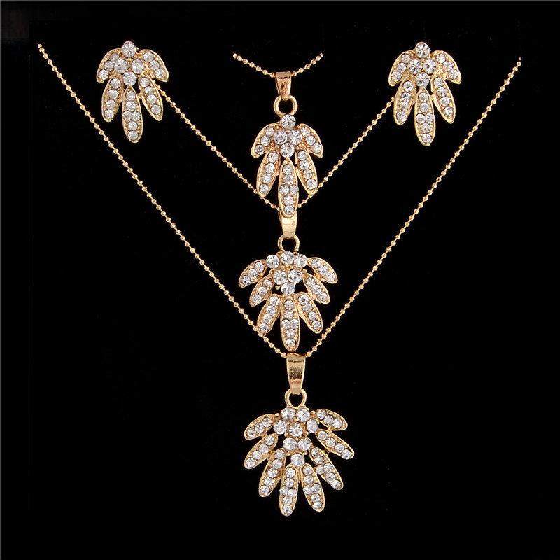 Austrian Crystal Triple Necklace Set