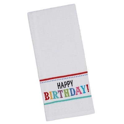 Happy Birthday Dish Towel