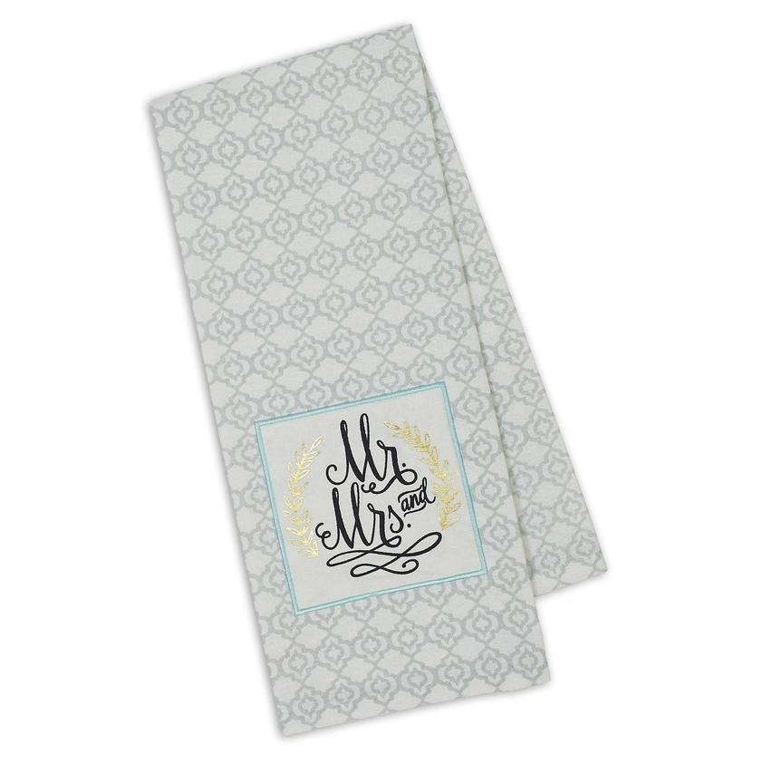 Mr and Mrs Embellished Towel