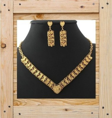 18KGP Chain Necklace Set