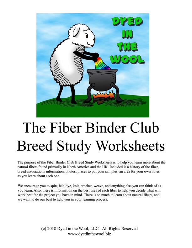 The Fiber Binder Club Breed Study Worksheets