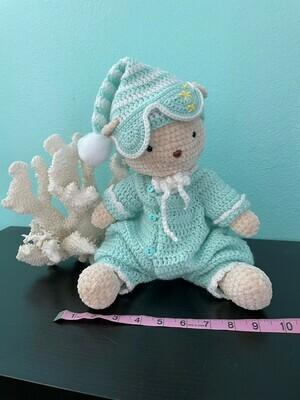 Bedtime bear crocheted