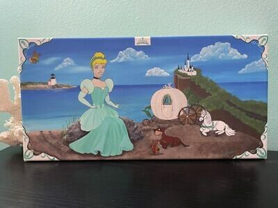 Princess By the Sea, Original Canvas Painting