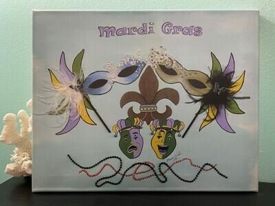 Mardi Gras, Original Canvas Painting