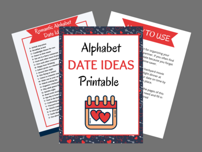 Alphabet Date Ideas Printable