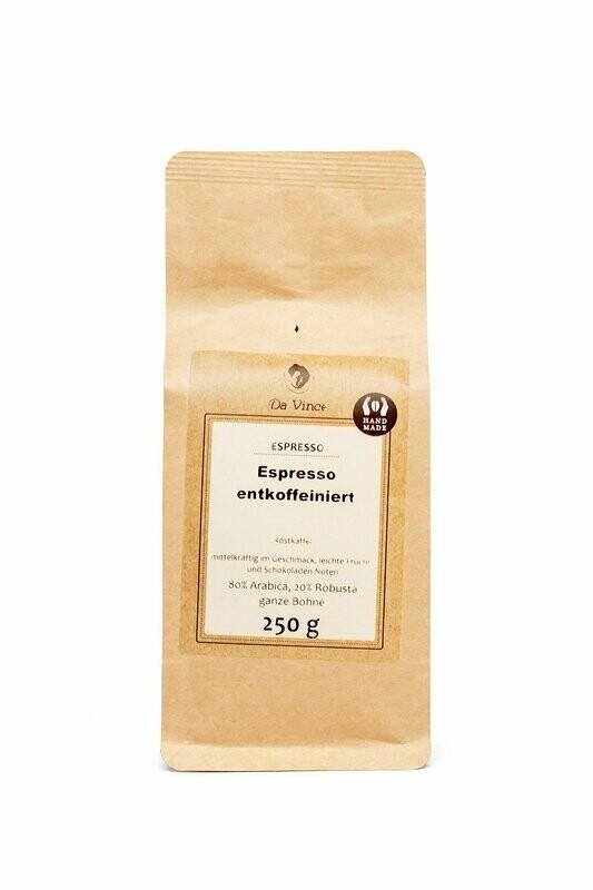 Da Vince Espresso entkoffeiniert (ganze Bohne 250g)