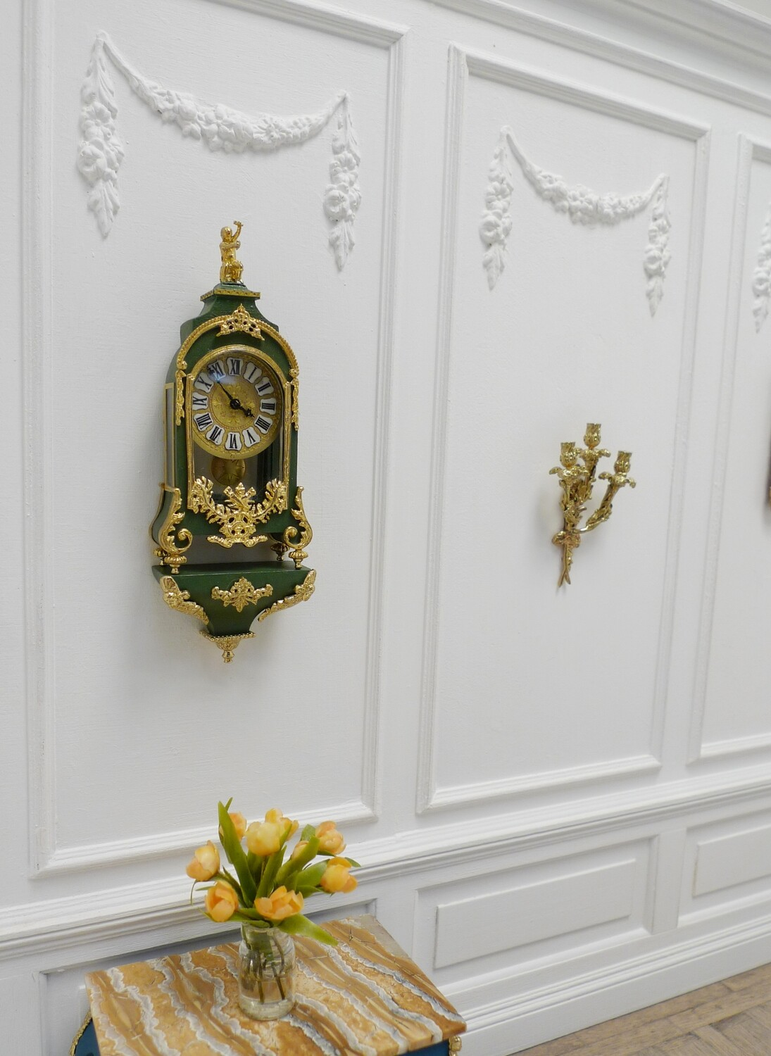 French Ormolu bracket clock