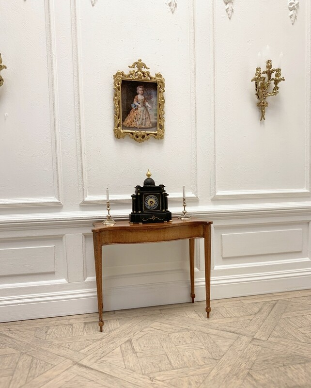 Victorian slate mantel clock