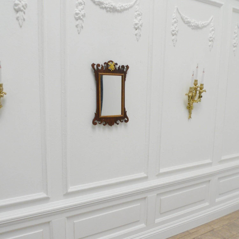 Georgian Fretwork wall mirror