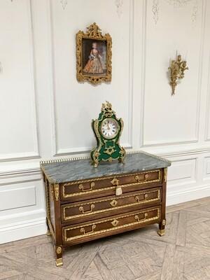 French working Ormolu mantel clock