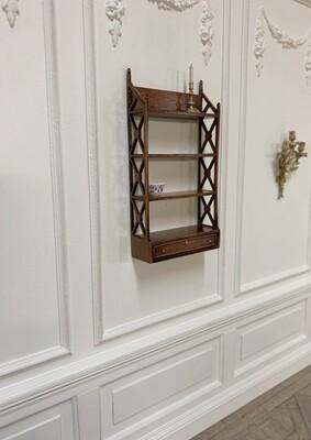 Georgian hanging fret shelves