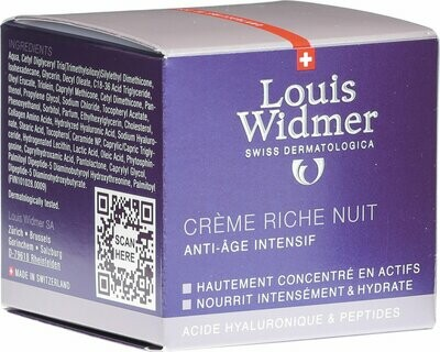 LOUIS WIDMER crema ricca notte ANTI-AGE 50 ml