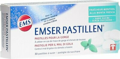 EMSER compresse mal di gola e tosse alla menta 30 pezzi