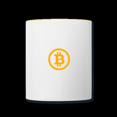 White BTC mug