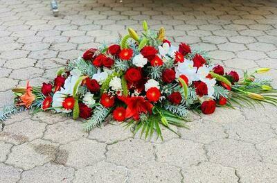 Gèrbe rouge moderne