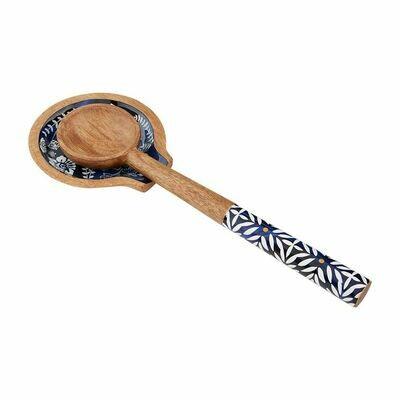 Indigo Enamel Spoon Rest Set