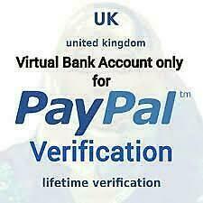 UK VIRTUAL BANK ACCOUNT FOR PAYPAL VERIFICATION