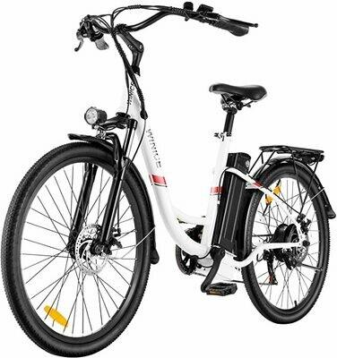"""VIVI Bici Elettrica Ebike 350W Bicicletta Elettrica per Adulti 26""""Bici Elettrica Cruiser/City batteria removibile"""