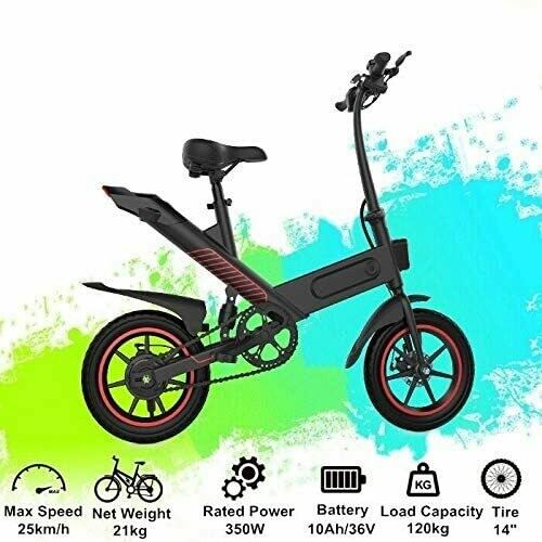 Fafrees Bicicletta elettrica Pieghevole con Pedali (36 V 350 W 10 Ah)