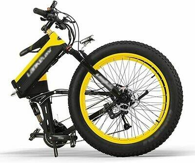 Bicicletta Elettrica Pieghevole 1000/500W 40km/h Ruote Larghe 26 x 4 Pollici Mountain Bike City Ebike in Alluminio Batteria Rimovibile SHIMANO 27 Velocità Bici da Spiaggia Neve All-terrain