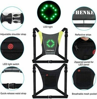Gilet indicatori di Direzione a LED, gilet riflettente a LED con indicatore di direzione