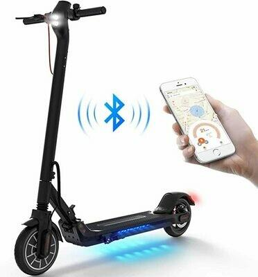 Monopattino Elettrico Adulti, con Controllo App & Interfaccia USB, Motore da 350W 25 Km di Autonomia, Pneumatici 8.5 Pollici ES2 Scooter Pieghevole Unisex Adulto
