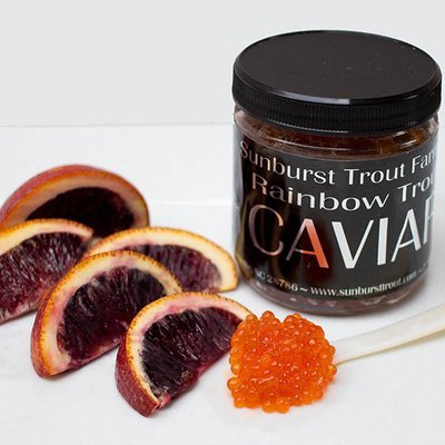 Blood Orange Infused Rainbow Trout Caviar