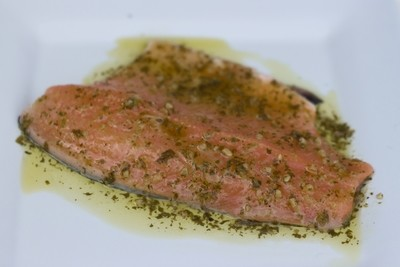 Lime Cilantro Marinated Trout Fillet
