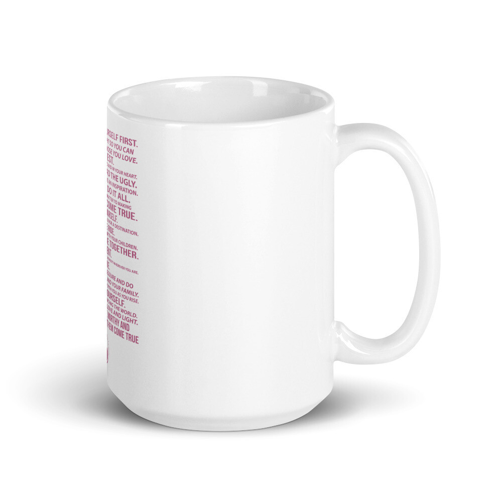 Savvy Working Mom Manifesto Coffee Mug- Mom Size