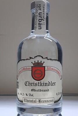 Christkindler  Apfel Sortenrein 0,35 Ltr