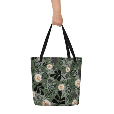 Beach Bag Cream Rose in Camouflage
