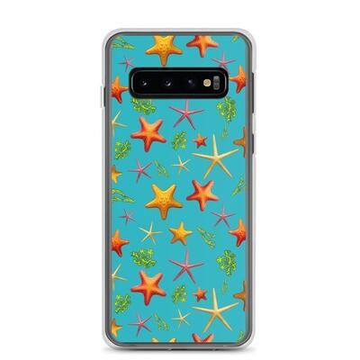Samsung Case Red Starfish in Blue