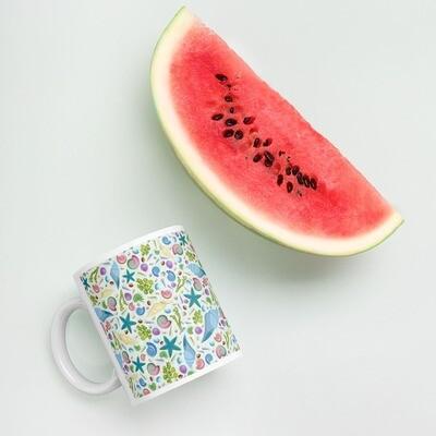 White glossy mug Pik 'n' Mix