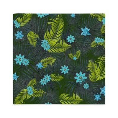 Premium Pillow Case Blue Tropics