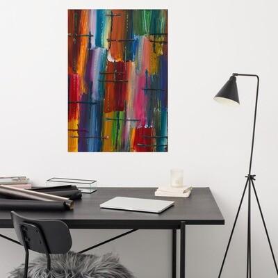 Rain - Print of Acrylic on Canvas