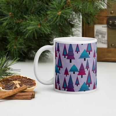 Purple Tree Fest in Mauve Christmas Mug