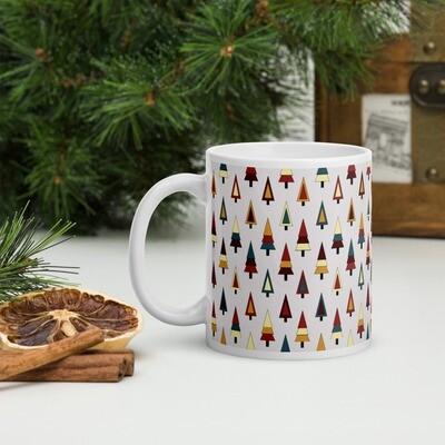 Inclusive Christmas Trees in Morning Dew Christmas Mug